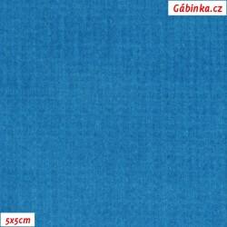 Manšestr, prací kord - elastický, tyrkysový, šíře 148 cm, 10 cm