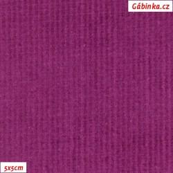 Manšestr, prací kord - Elastický, fialový 592, šíře 148 cm, 10 cm