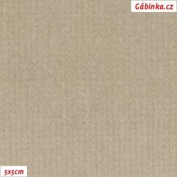 Manšestr, prací kord - elastický, světle béžový, šíře 148 cm, 10 cm