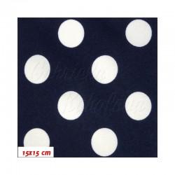 HF Šusťák, Střední puntíky bílé na tm. modré, 15x15cm