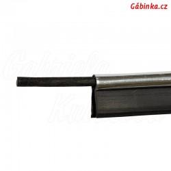 Paspulka s výztuží stříbrná - šíře 10 mm, 1 m