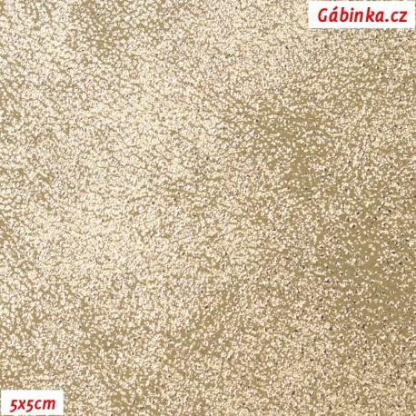 Koženka METALIC GOLD, šíře 140 cm, pohled 5x5 cm