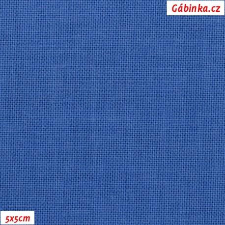 Plátno 120 - modré, 145 g/m2, 5x5 cm