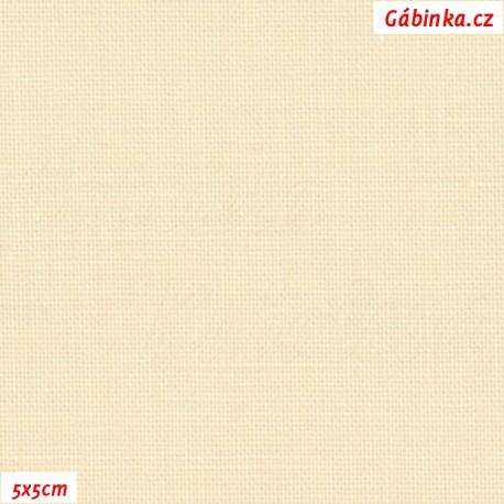 Plátno 120 - smetanové, 145 g/m2, 5x5 cm