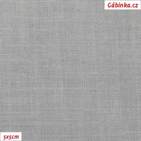 Plátno 120 - světle šedé, 145 g/m2, 5x5 cm