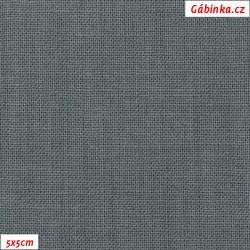 Plátno 120 - tmavě šedé, 145 g/m2, 5x5 cm