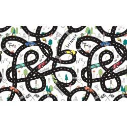 Úplet s EL Digitální tisk - Cesta na bílé, ATEST 2, šíře 160 cm, 10 cm