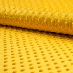 Plyš MINKY - puntíky žluté, gramáž 250 g