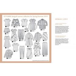 Střihy časopisů Ottobre design Woman