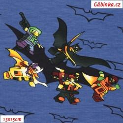 Teplákovina s EL - LEGO Batman, ATEST 2, LICENCE, šíře 180 cm, 10 cm