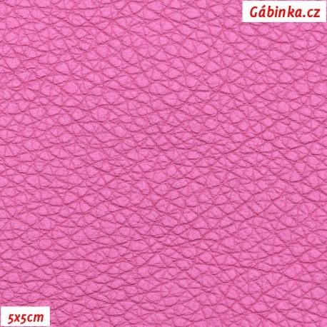 Koženka, růžová, SOFT LESK, 5x5 cm