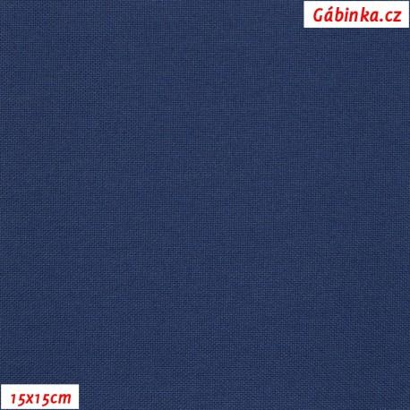 Kočárkovina, Tmavě modrá, MAT 261, 15x15cm
