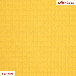 Vafle - žlutá 031, ATEST 1, šíře 145 cm, 10 cm