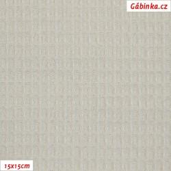 Vafle - světle šedá 061, ATEST 1, šíře 145 cm, 10 cm