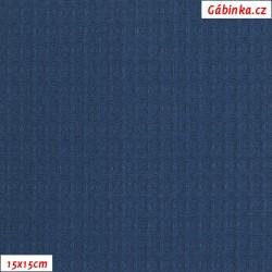 Vafle - modrá 007, ATEST 1, 15x15 cm