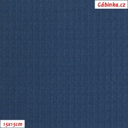 Vafle - modrá 007, ATEST 1, šíře 145 cm, 10 cm