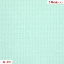 Vafle - mentolová 021, ATEST 1, šíře 145 cm, 10 cm