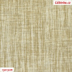 Režné plátno - Béžový melír, šíře 140 cm, 10 cm