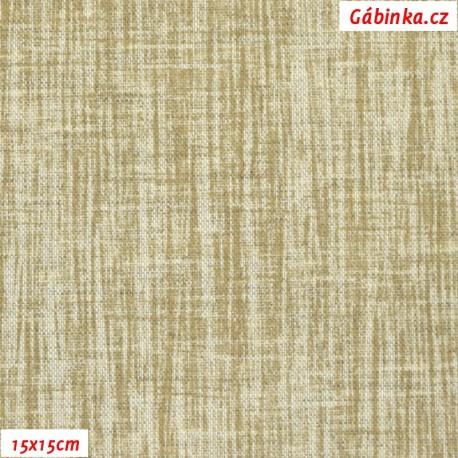 Režné plátno - Béžový melír, 15x15 cm