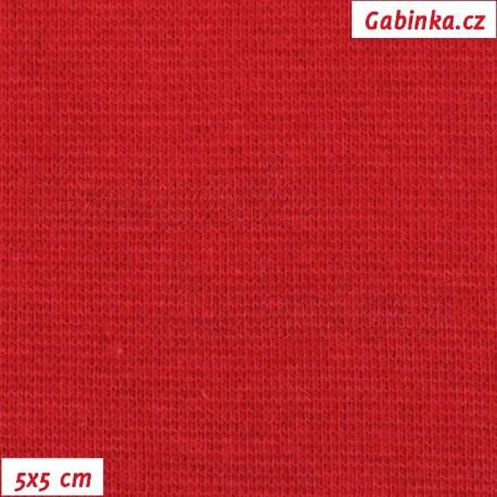 Náplet hladký, tm. červený, 5x5cm