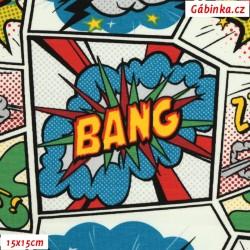 E - Úplet s EL - Komiks BANG, šíře 140 cm, 10 cm