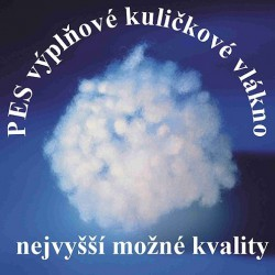 PES kuličky - duté vlákno 1 kg, ATEST 1