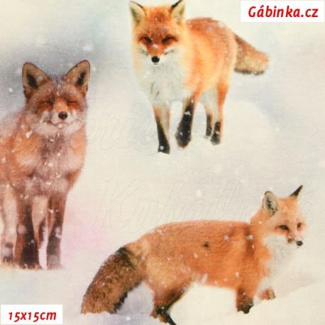 Úplet s EL Digitální tisk - Sněžné lišky, ATEST 2, 15x15 cm