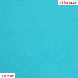 Len - tyrkysový, šíře 138 cm, 10 cm