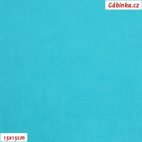 Len - tyrkysový, 15x15 cm