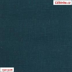 Len - temně modrozelený, šíře 138 cm, 10 cm