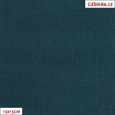 Len - temně modrozelený, 15x15 cm