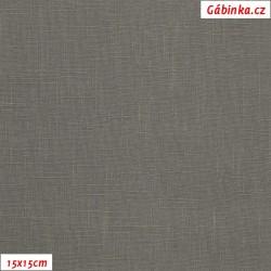 Len - šedý, šíře 138 cm, 10 cm