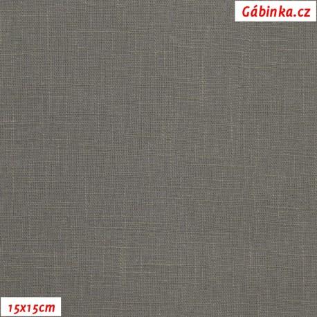 Len - šedý, 15x15 cm