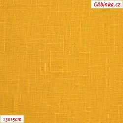 Len - sytě žlutý, šíře 138 cm, 10 cm