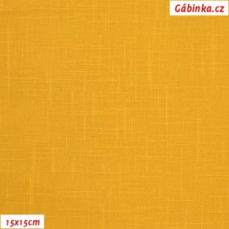 Len - sytě žlutý, 15x15 cm