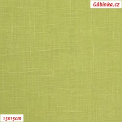 Len - světle zelený, šíře 138 cm, 10 cm