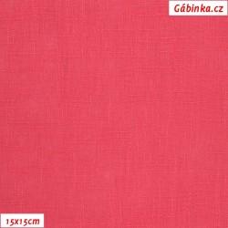 Len - růžověčervený, šíře 138 cm, 10 cm
