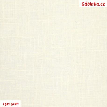 Len - přírodně bílý, 15x15 cm