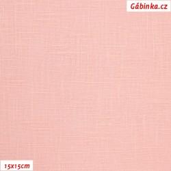 Len - světle růžový, šíře 138 cm, 10 cm