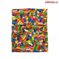 Dětský kapsář do školky - LEGO kostičky, 1 ks