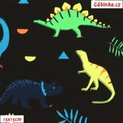 Úplet s EL - NEON dinosauři, ATEST 1, 15x15 cm