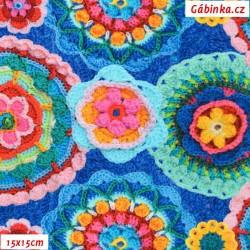 Úplet s EL - Pletené mandaly, 15x15 cm