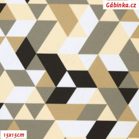 Kočárkovina Primax, Trojúhelníky béžové, 15x15 cm