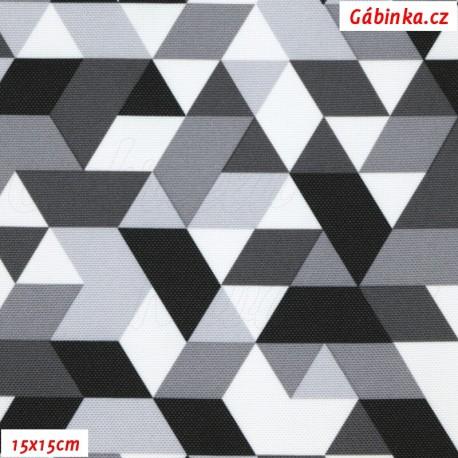 Kočárkovina Primax, Trojúhelníky šedé, 15x15 cm