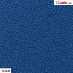 Koženka, modrá SOFT LESK 105, šíře 140 cm, 10 cm