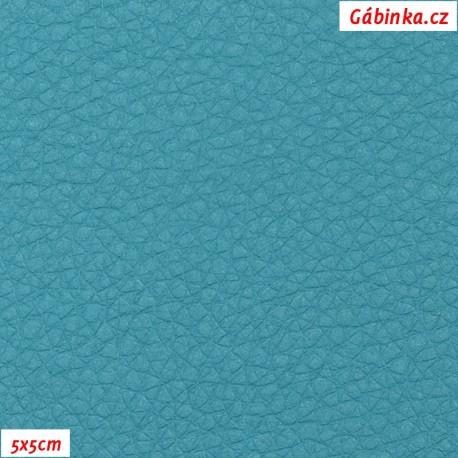 Koženka, tyrkysová SOFT LESK 106, 5x5 cm