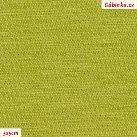 Potahová látka - jarní zelená, 5x5 cm