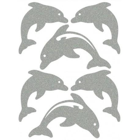 Reflexní nažehlovací potisk - Delfíni (8 ks)