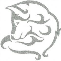 Reflexní nažehlovací potisk - Vlk (1 ks)