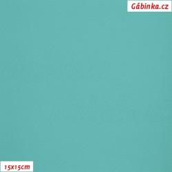 Koženka, tmavá mint, SOFT 42, šíře 140 cm, 10 cm